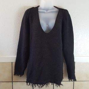 Free People Wool/Linen blend oversized sweater EUC